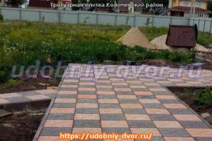 Примеры укладки тротуарной плитки в Коломенском районе