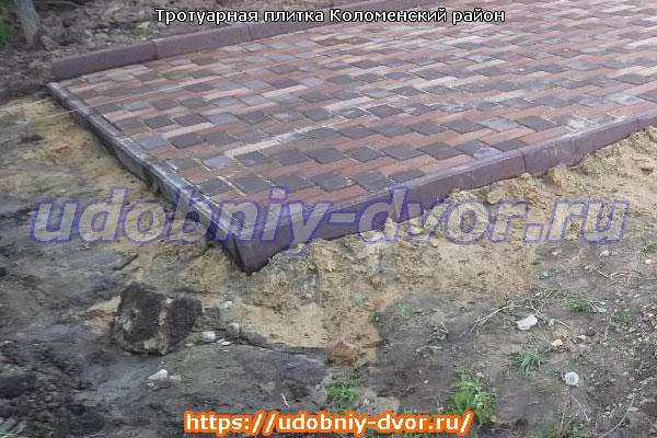 Тротуарная плитка в Коломенском районе