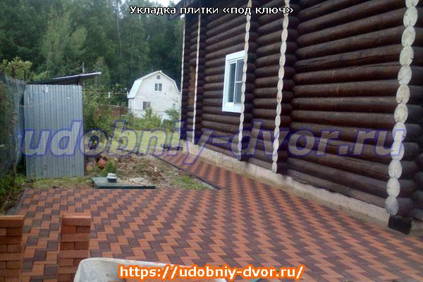 Укладка тротуарной плитки «под ключ» в Московской и Тульской областях