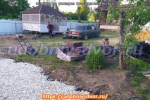 Укладка разных видов тротуарных плиток нашими мастерами в Тульской области