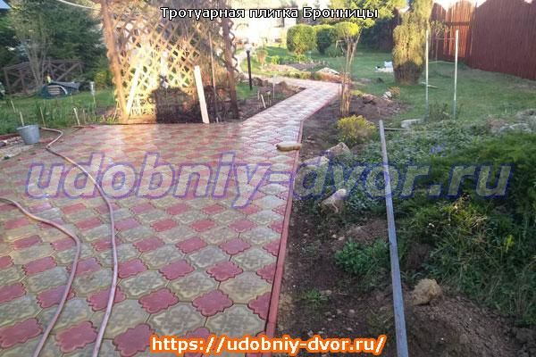 Примеры укладки тротуарной плитки в Бронницах