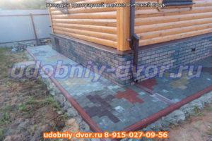 Укладка тротуарной плитки Римский Брук в деревне Шматово Ступининского района Московской области