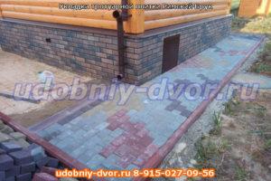Укладка тротуарной плитки Римский Брук в Ступино