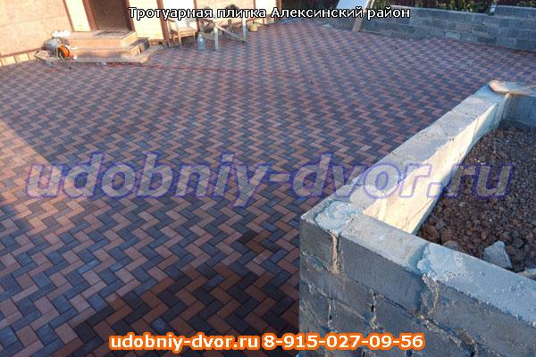 Производство и укладка тротуарной плитки в Алексинском районе