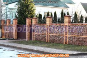 """Строительство заборов """"под ключ"""", облицовка заборов, установка ворот: село Занкино Ступинский район"""