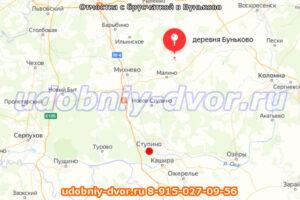 Отмостка с брусчаткой в Буньково