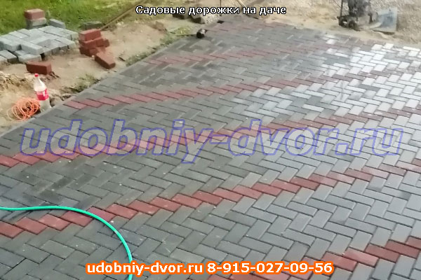 Садовые дорожки на даче в Шахлово